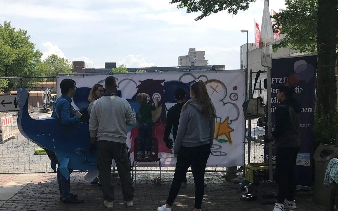 Europawahlaktionen rund um das Chorweiler CityCenter