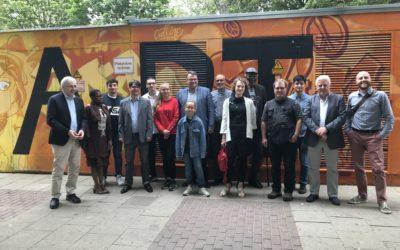 Besuch des Parlamentarischen Staatssekretärs Klaus Kaiser am 08.07.2019 bei der Demokratiewerkstatt im Kölner Norden